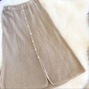 Vintage 90's Isabella Bird Linen & Silk Knit Skirt